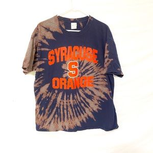 University of Syracuse custom dyed tshirt